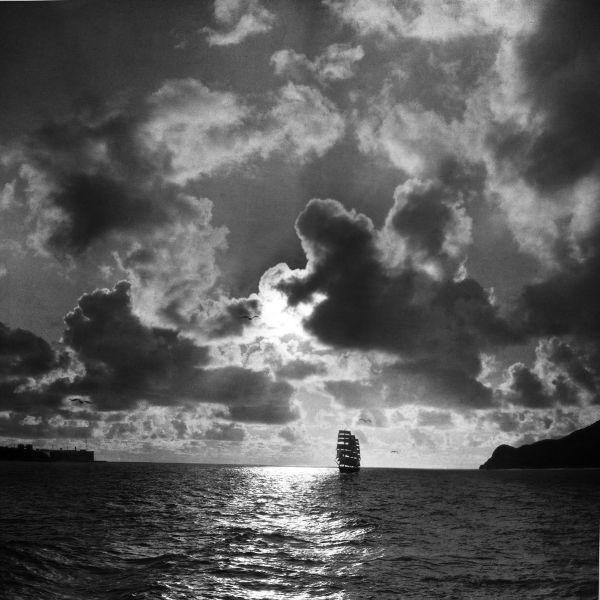 Moulin Studios Historical Black and White Photo Print of Sailing Ship