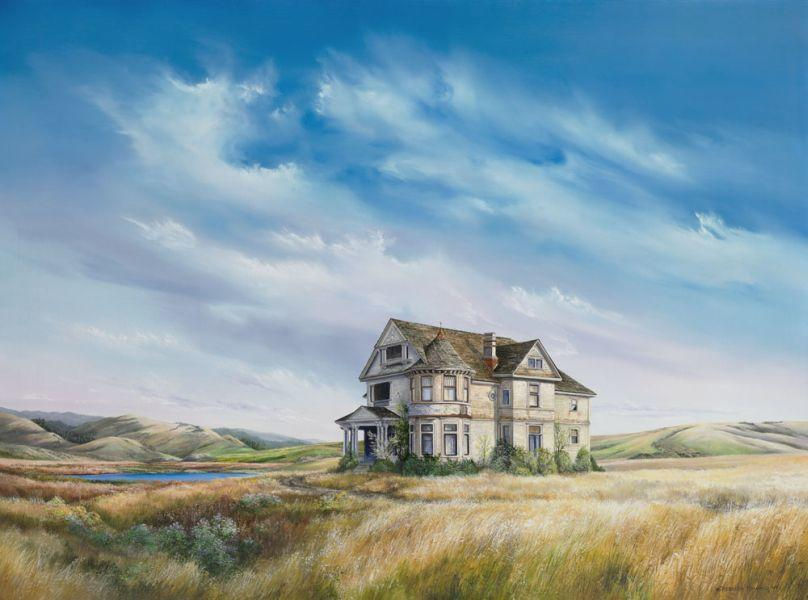 Rebecca Holland Fine Art Print of Landscape with Old House