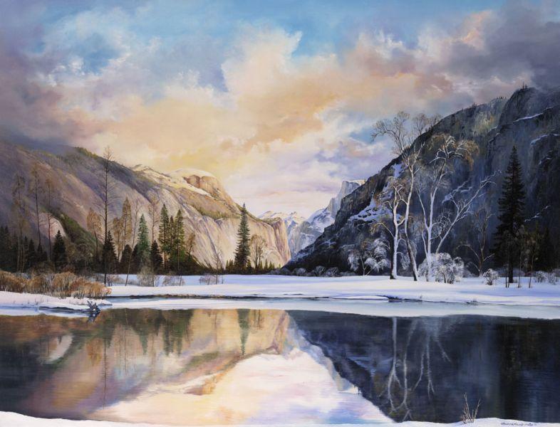Rebecca Holland Fine Art Print of Winter Landscape with Lake