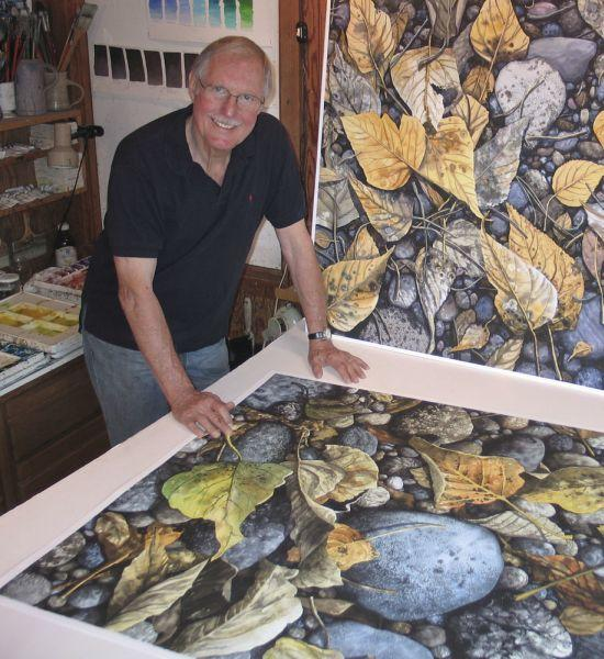 Woody Payne with a Print