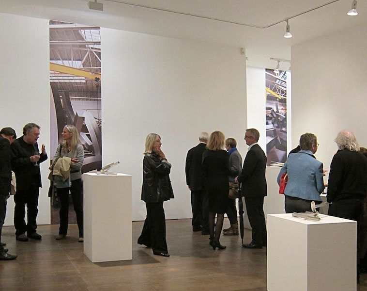 """Brian Wall's """"New Works"""" exhibition opening at Flowers Gallery, London"""