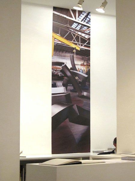 """One of Blow Up Lab's murals produced for Brian Wall's """" New Works"""" exhibition at Flowers Gallery, London"""
