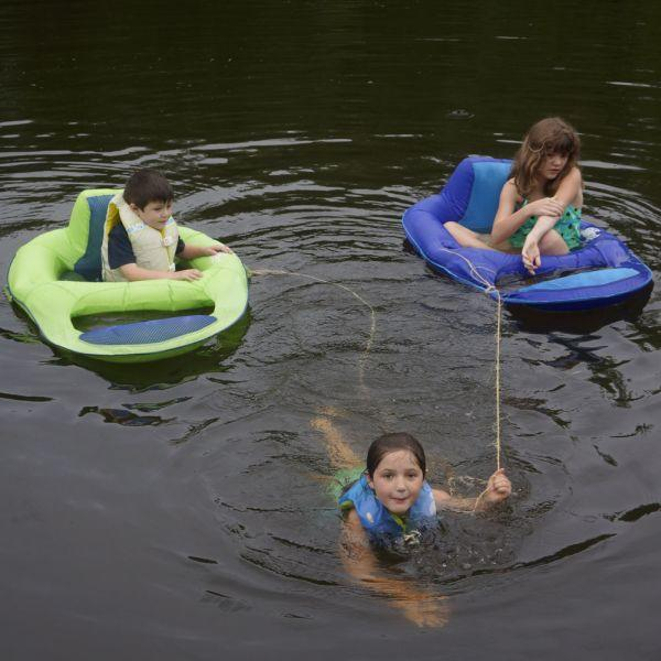 Instagram print of little kids having fund in lake