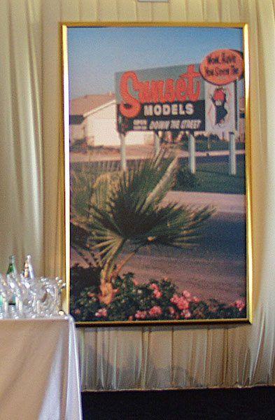 photo display for Sunset Developer's anniversary celebration
