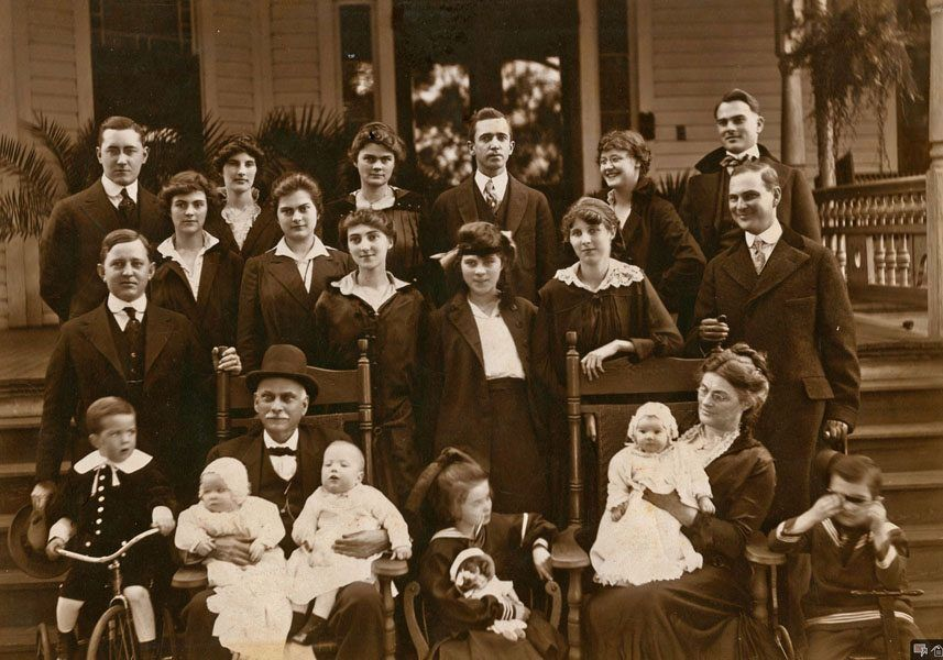Historical Black and White Family Photo