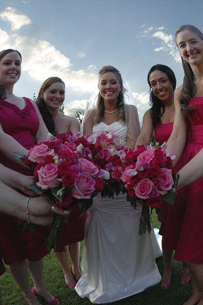 Photo of a Bride with Bridesmaids