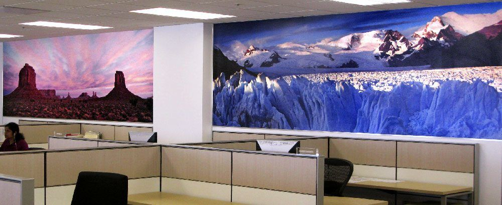 Hotwire Office Wall Murals - Monument Valley and Alaska