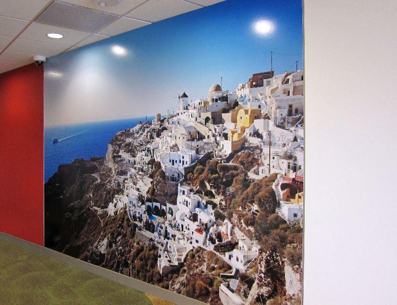Hotwire Office Wall Mural - Santorini, Greece