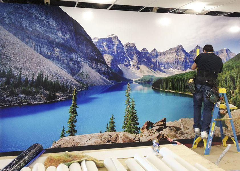 Hotwire Office Wall Mural - Lake Louise, Canada