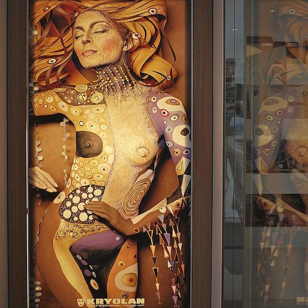 Kryolan Cosmetics Backlit Film Store Displays
