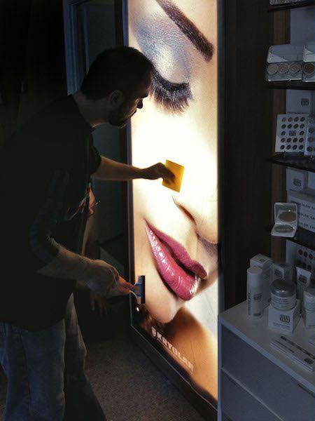 Backlit Store Display for Kryolan Cosmetics