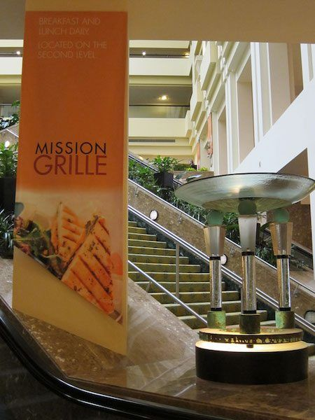 Promotional Sign for Marriott Restaurant
