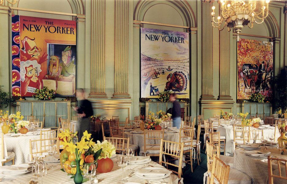 Event Display for the New Yorker designed by Stanlee Gatti Designs