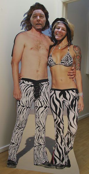 promo cut-out of a Burning Man couple