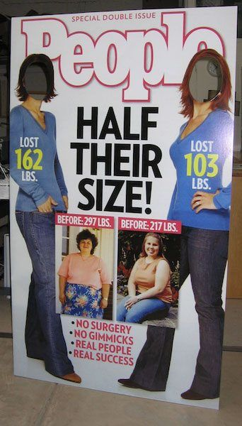Promo Cut-out of Weight Watchers on People Magazine