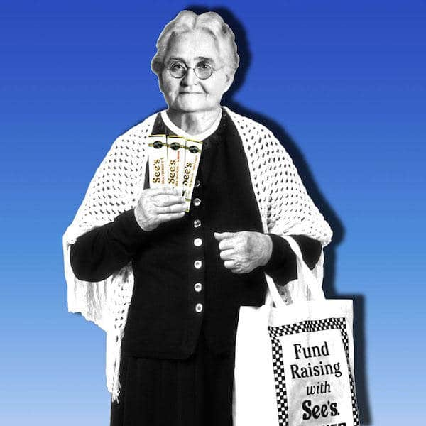 Mrs. See's Candies Promo Cut-out
