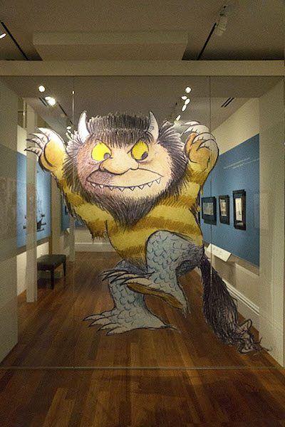 Maurice Sendak Wild Thing Contour Cut-Out Print on Glass