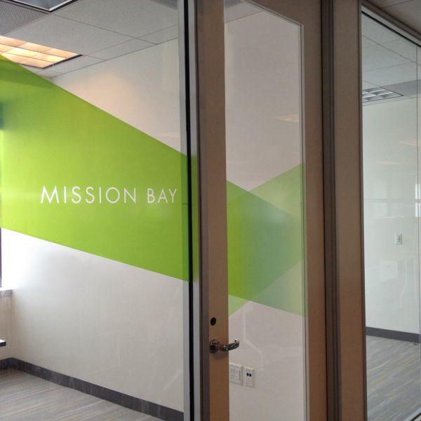 Bridge Housing Offices Clear Film Murals and Graphics