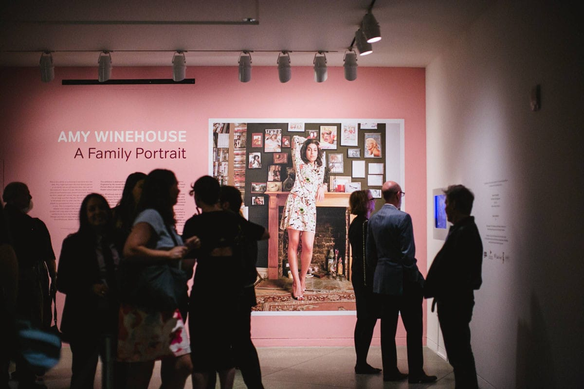 Amy Winehouse exhibition title and mural at CJM
