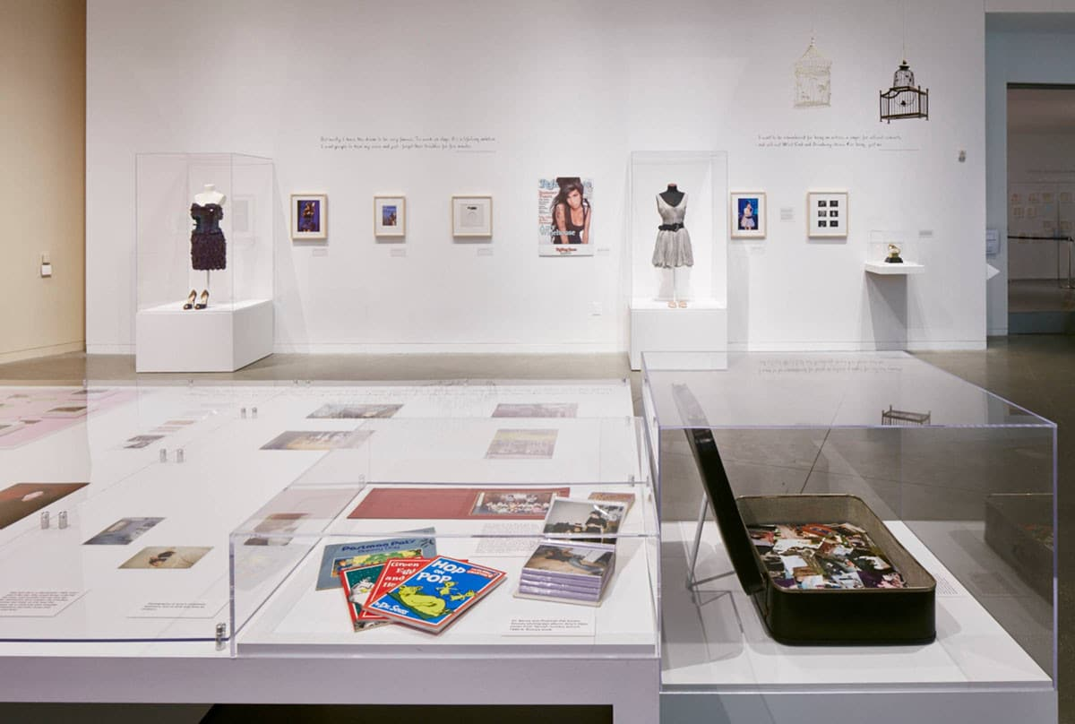 Amy Winehouse exhibition content prints at CJM