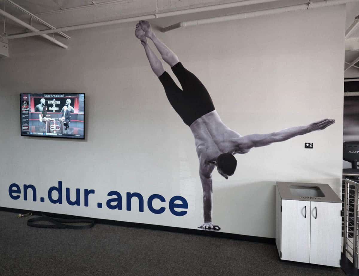 HUB925 Athlete Standing on One Hand Wall Mural