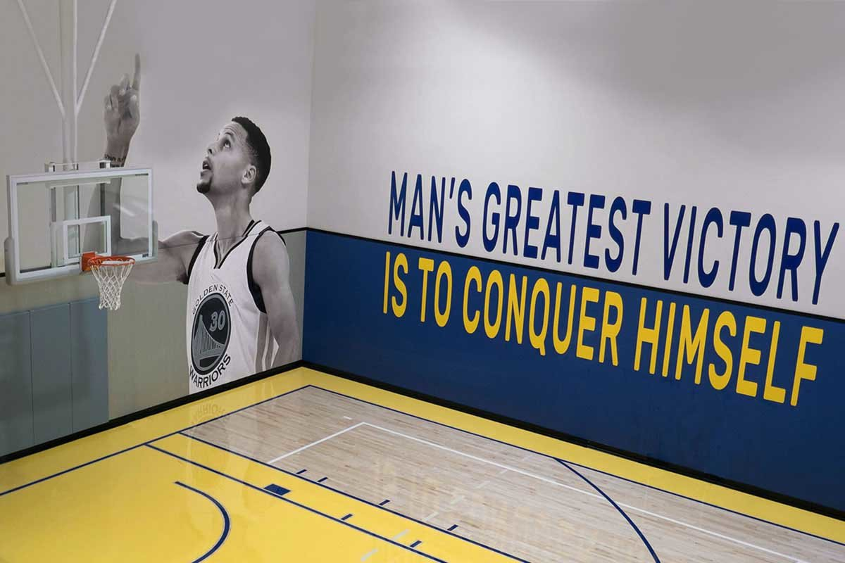 Stephen Curry Murals and Text Graphics for HUB925