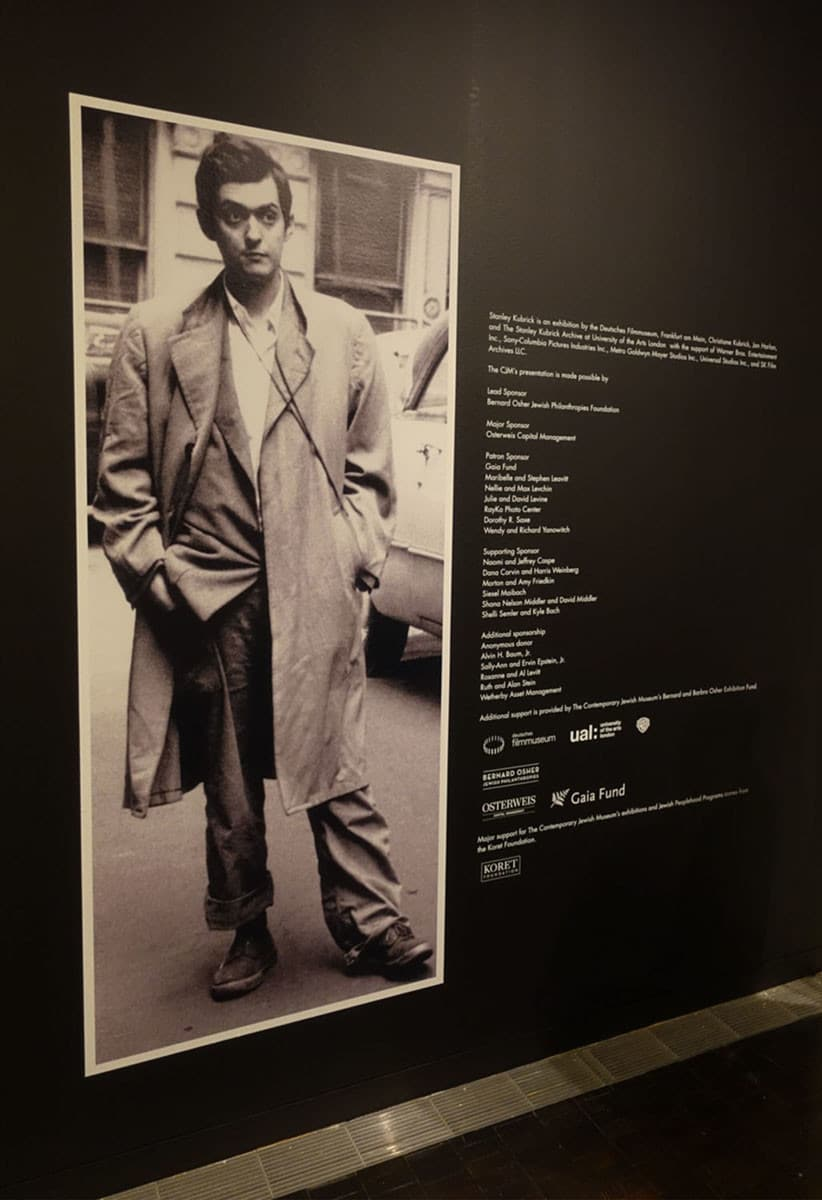 Young Kubrick Portrait mural for CJM Exhibition