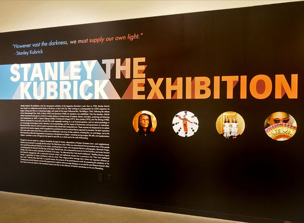 Kubrick Title Wall for CJM Exhibition