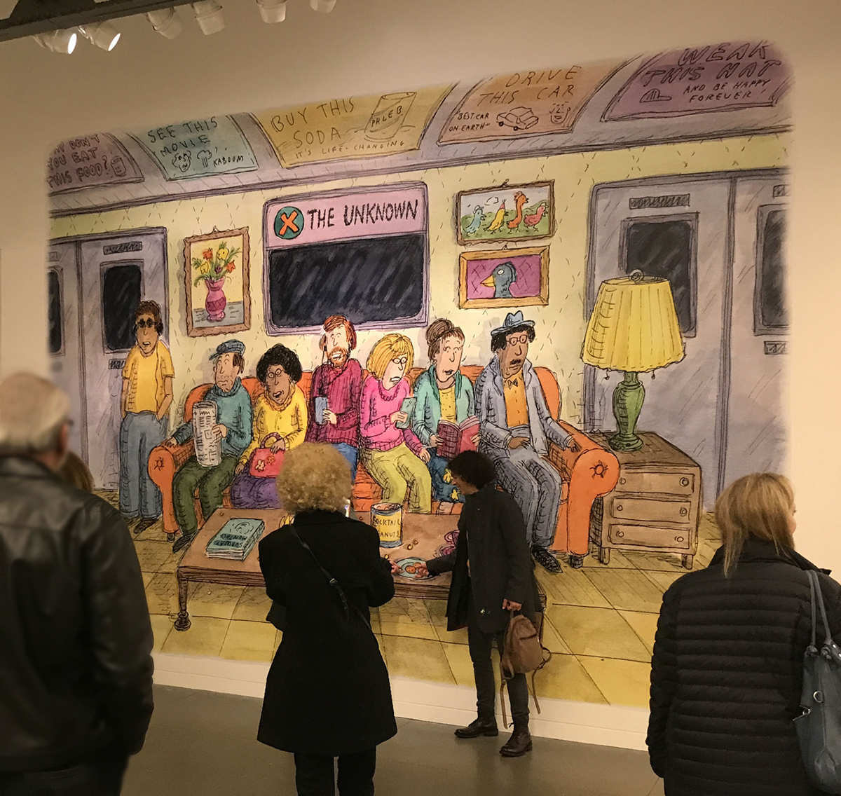 Roz Chast Subway Exhibition Mural at The CJM