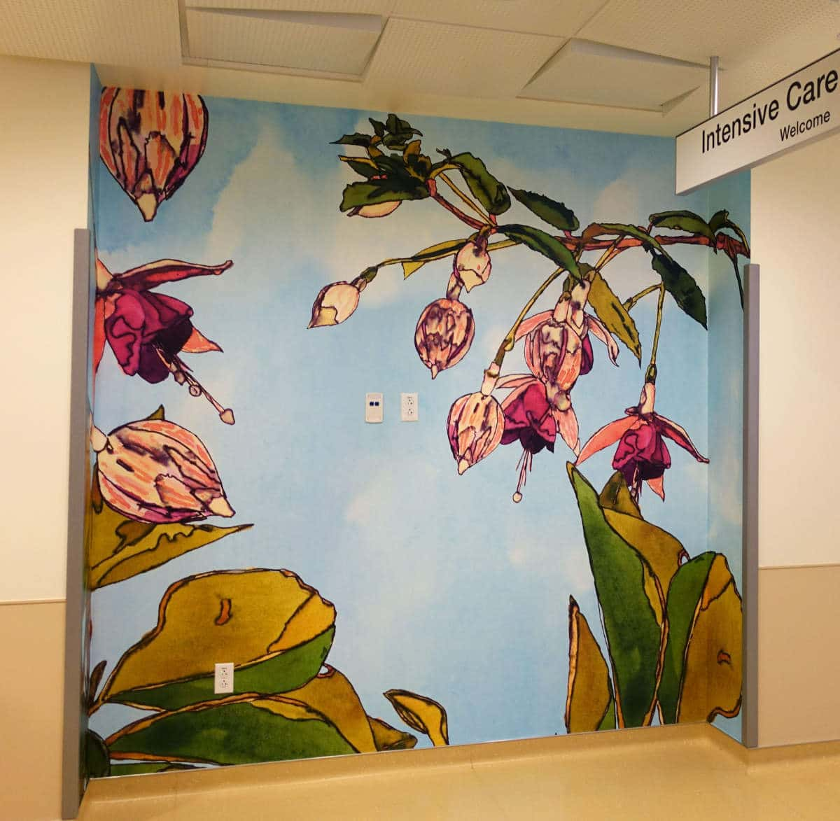 UCSF Dave Muller ICN Fusia Wall Mural