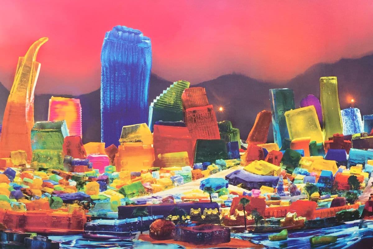 Liz Hickok Jello Mold Series - SF Skyline for Facebook Offices