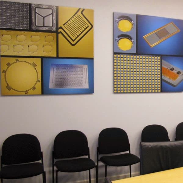 GG Technologies Corporate Office Murals of their product for the boardroom